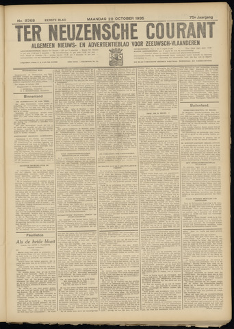 Ter Neuzensche Courant. Algemeen Nieuws- en Advertentieblad voor Zeeuwsch-Vlaanderen / Neuzensche Courant ... (idem) / (Algemeen) nieuws en advertentieblad voor Zeeuwsch-Vlaanderen 1935-10-28