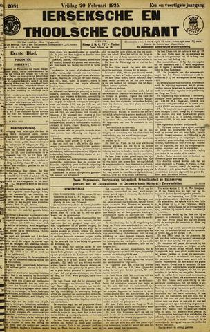 Ierseksche en Thoolsche Courant 1925-02-20