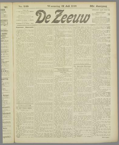 De Zeeuw. Christelijk-historisch nieuwsblad voor Zeeland 1916-07-12