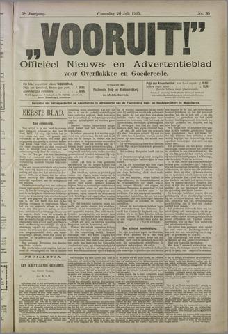 """""""Vooruit!""""Officieel Nieuws- en Advertentieblad voor Overflakkee en Goedereede 1905-07-26"""