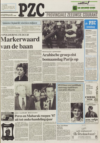 Provinciale Zeeuwse Courant 1986-09-13