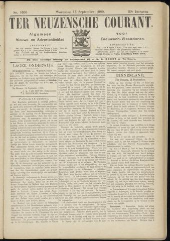 Ter Neuzensche Courant. Algemeen Nieuws- en Advertentieblad voor Zeeuwsch-Vlaanderen / Neuzensche Courant ... (idem) / (Algemeen) nieuws en advertentieblad voor Zeeuwsch-Vlaanderen 1880-09-15