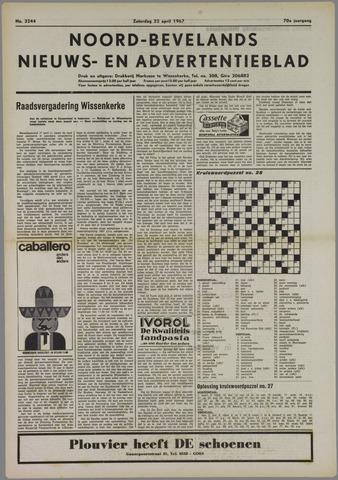 Noord-Bevelands Nieuws- en advertentieblad 1967-04-22