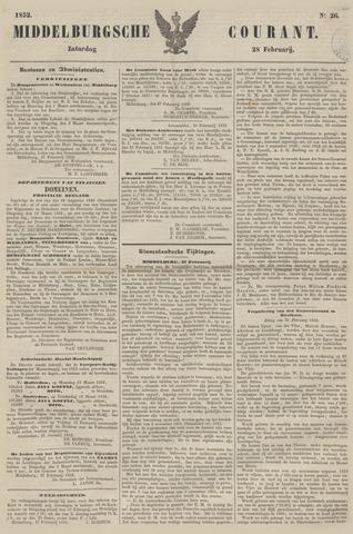 Middelburgsche Courant 1852-02-28