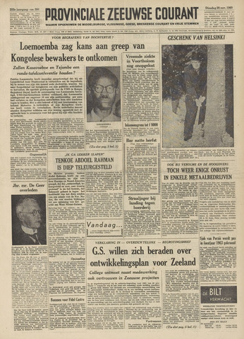 Provinciale Zeeuwse Courant 1960-11-29