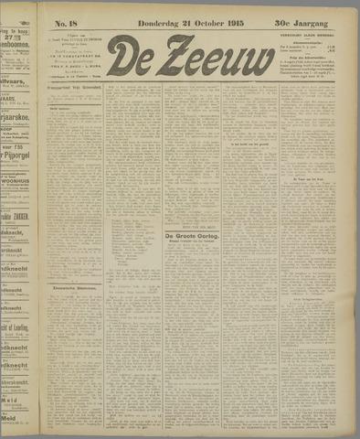 De Zeeuw. Christelijk-historisch nieuwsblad voor Zeeland 1915-10-21