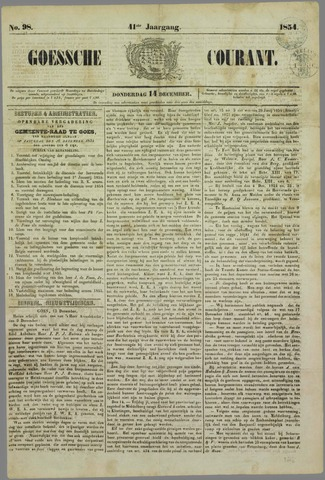 Goessche Courant 1854-12-14