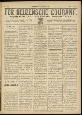 Ter Neuzensche Courant. Algemeen Nieuws- en Advertentieblad voor Zeeuwsch-Vlaanderen / Neuzensche Courant ... (idem) / (Algemeen) nieuws en advertentieblad voor Zeeuwsch-Vlaanderen 1933-10-04