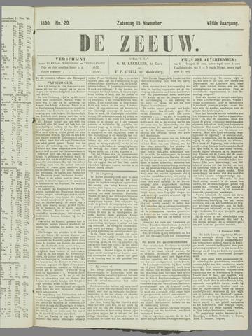De Zeeuw. Christelijk-historisch nieuwsblad voor Zeeland 1890-11-15