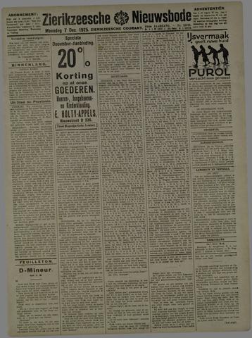 Zierikzeesche Nieuwsbode 1925-12-07