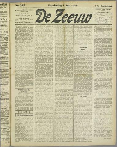 De Zeeuw. Christelijk-historisch nieuwsblad voor Zeeland 1920-07-01