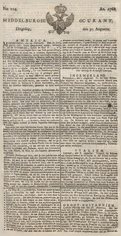 Middelburgsche Courant 1768-08-30