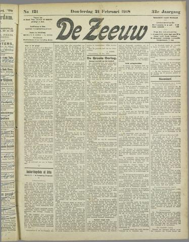 De Zeeuw. Christelijk-historisch nieuwsblad voor Zeeland 1918-02-21