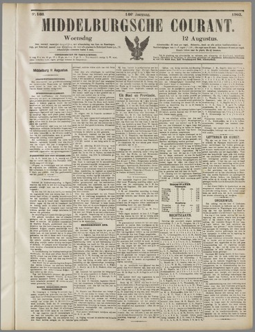 Middelburgsche Courant 1903-08-12