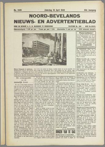 Noord-Bevelands Nieuws- en advertentieblad 1949-04-16