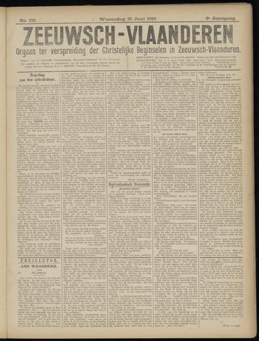 Luctor et Emergo. Antirevolutionair nieuws- en advertentieblad voor Zeeland / Zeeuwsch-Vlaanderen. Orgaan ter verspreiding van de christelijke beginselen in Zeeuwsch-Vlaanderen 1919-06-25