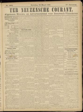 Ter Neuzensche Courant. Algemeen Nieuws- en Advertentieblad voor Zeeuwsch-Vlaanderen / Neuzensche Courant ... (idem) / (Algemeen) nieuws en advertentieblad voor Zeeuwsch-Vlaanderen 1919-03-22
