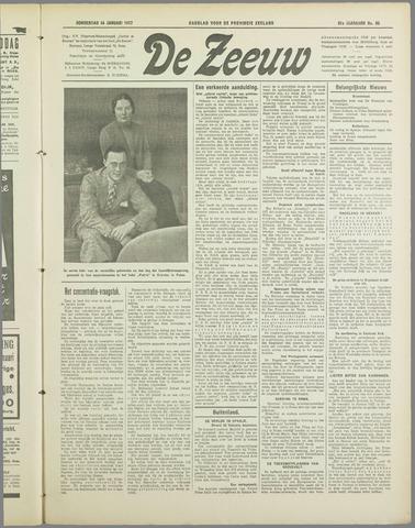De Zeeuw. Christelijk-historisch nieuwsblad voor Zeeland 1937-01-14