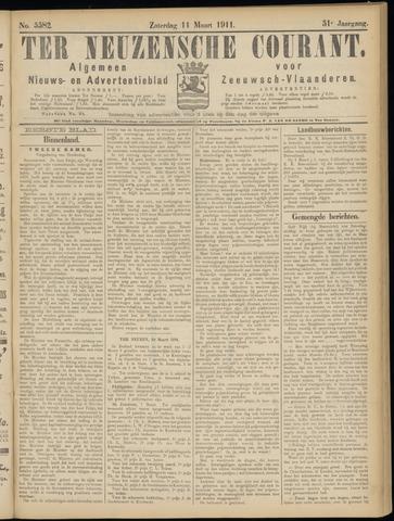 Ter Neuzensche Courant. Algemeen Nieuws- en Advertentieblad voor Zeeuwsch-Vlaanderen / Neuzensche Courant ... (idem) / (Algemeen) nieuws en advertentieblad voor Zeeuwsch-Vlaanderen 1911-03-11