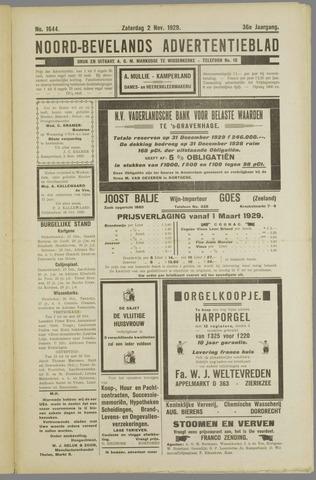 Noord-Bevelands Nieuws- en advertentieblad 1929-11-02