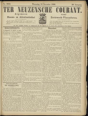 Ter Neuzensche Courant. Algemeen Nieuws- en Advertentieblad voor Zeeuwsch-Vlaanderen / Neuzensche Courant ... (idem) / (Algemeen) nieuws en advertentieblad voor Zeeuwsch-Vlaanderen 1890-11-19