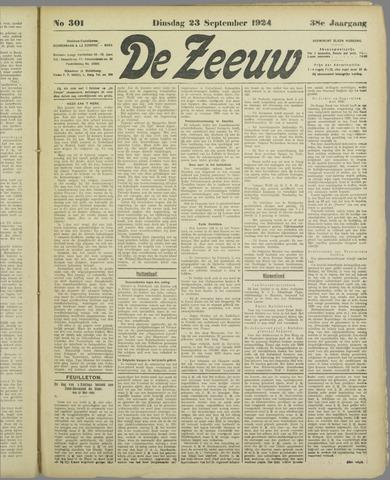 De Zeeuw. Christelijk-historisch nieuwsblad voor Zeeland 1924-09-23