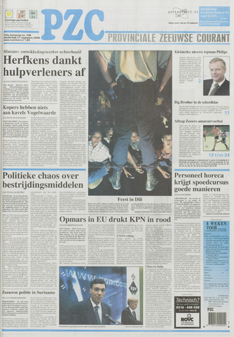 Provinciale Zeeuwse Courant 2000-08-31