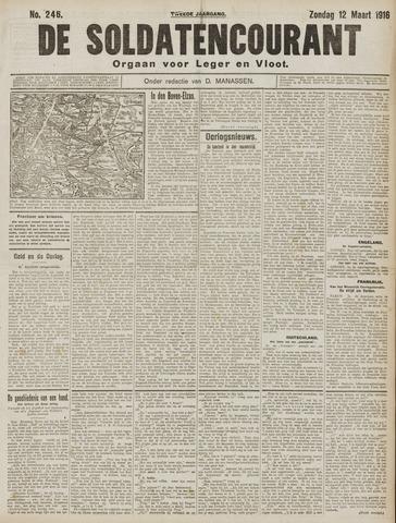 De Soldatencourant. Orgaan voor Leger en Vloot 1916-03-12