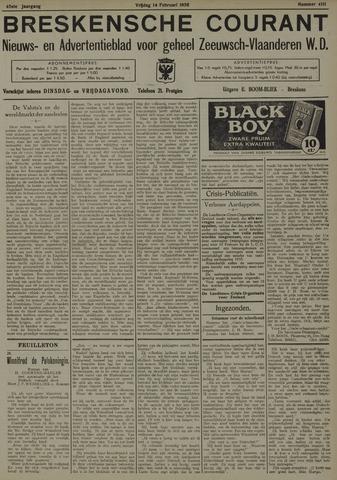 Breskensche Courant 1936-02-14