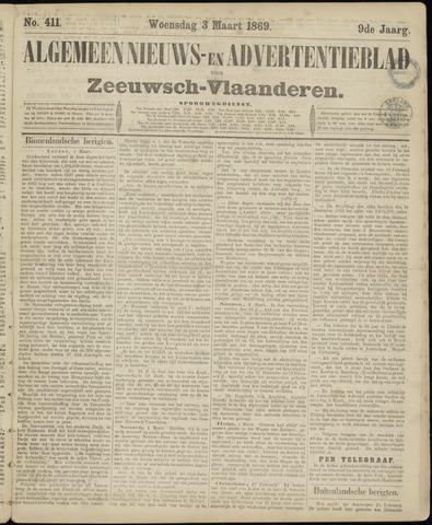 Ter Neuzensche Courant. Algemeen Nieuws- en Advertentieblad voor Zeeuwsch-Vlaanderen / Neuzensche Courant ... (idem) / (Algemeen) nieuws en advertentieblad voor Zeeuwsch-Vlaanderen 1869-03-03