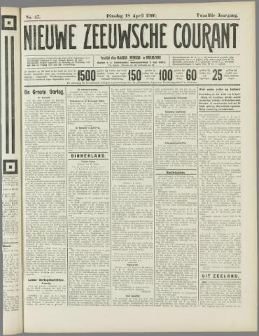 Nieuwe Zeeuwsche Courant 1916-04-18