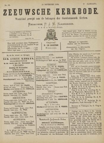 Zeeuwsche kerkbode, weekblad gewijd aan de belangen der gereformeerde kerken/ Zeeuwsch kerkblad 1888-11-24