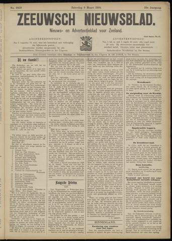 Ter Neuzensch Volksblad. Vrijzinnig nieuws- en advertentieblad voor Zeeuwsch- Vlaanderen / Zeeuwsch Nieuwsblad. Nieuws- en advertentieblad voor Zeeland 1918-03-09