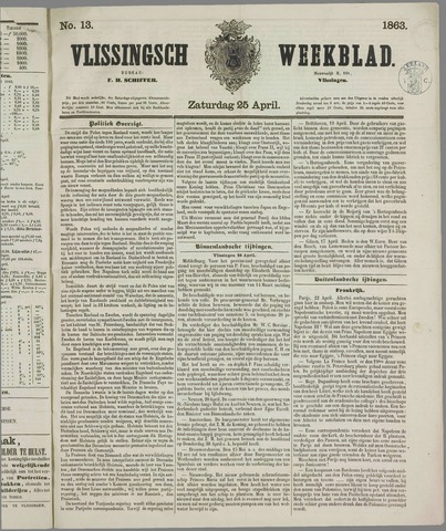 Vlissings Weekblad 1863-04-25