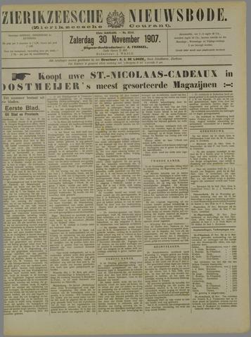 Zierikzeesche Nieuwsbode 1907-11-30