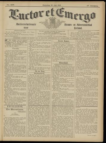 Luctor et Emergo. Antirevolutionair nieuws- en advertentieblad voor Zeeland / Zeeuwsch-Vlaanderen. Orgaan ter verspreiding van de christelijke beginselen in Zeeuwsch-Vlaanderen 1915-07-10
