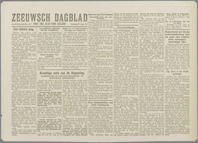 Zeeuwsch Dagblad 1945-08-21