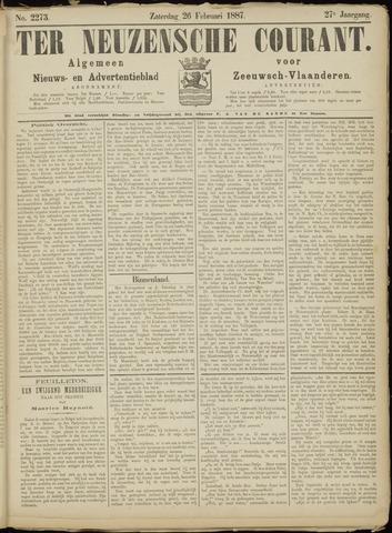 Ter Neuzensche Courant. Algemeen Nieuws- en Advertentieblad voor Zeeuwsch-Vlaanderen / Neuzensche Courant ... (idem) / (Algemeen) nieuws en advertentieblad voor Zeeuwsch-Vlaanderen 1887-02-26