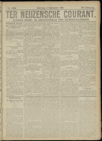 Ter Neuzensche Courant. Algemeen Nieuws- en Advertentieblad voor Zeeuwsch-Vlaanderen / Neuzensche Courant ... (idem) / (Algemeen) nieuws en advertentieblad voor Zeeuwsch-Vlaanderen 1920-09-11
