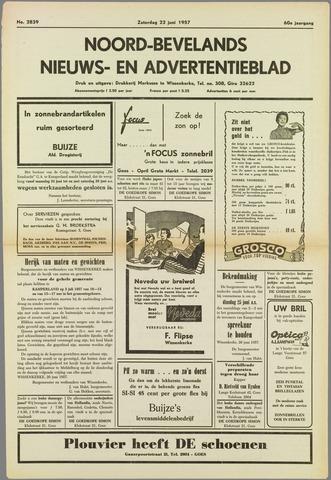 Noord-Bevelands Nieuws- en advertentieblad 1957-06-22