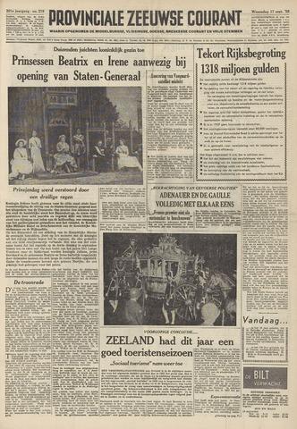 Provinciale Zeeuwse Courant 1958-09-17