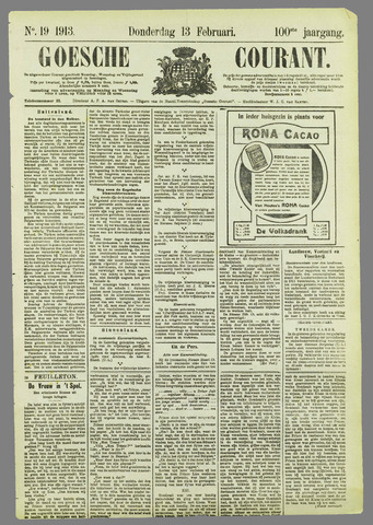 Goessche Courant 1913-02-13