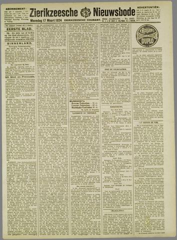 Zierikzeesche Nieuwsbode 1924-03-17