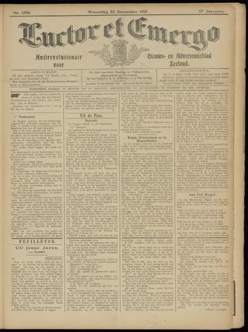 Luctor et Emergo. Antirevolutionair nieuws- en advertentieblad voor Zeeland / Zeeuwsch-Vlaanderen. Orgaan ter verspreiding van de christelijke beginselen in Zeeuwsch-Vlaanderen 1915-12-22