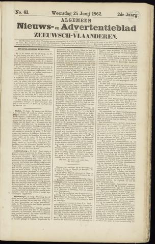 Ter Neuzensche Courant. Algemeen Nieuws- en Advertentieblad voor Zeeuwsch-Vlaanderen / Neuzensche Courant ... (idem) / (Algemeen) nieuws en advertentieblad voor Zeeuwsch-Vlaanderen 1862-06-25