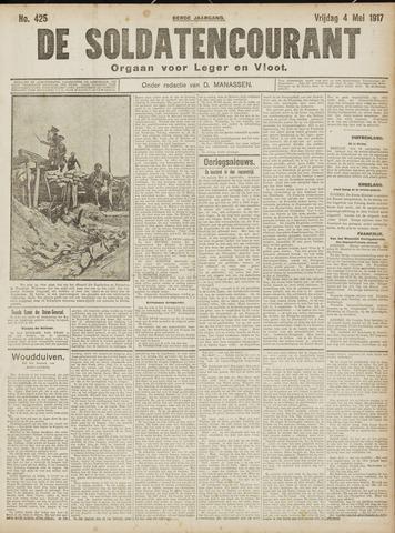 De Soldatencourant. Orgaan voor Leger en Vloot 1917-05-04