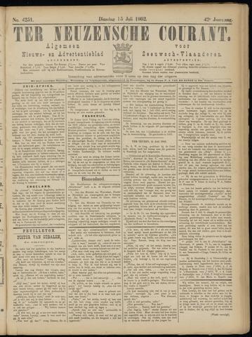 Ter Neuzensche Courant. Algemeen Nieuws- en Advertentieblad voor Zeeuwsch-Vlaanderen / Neuzensche Courant ... (idem) / (Algemeen) nieuws en advertentieblad voor Zeeuwsch-Vlaanderen 1902-07-15
