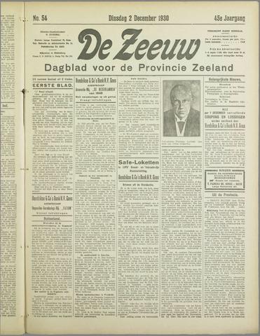De Zeeuw. Christelijk-historisch nieuwsblad voor Zeeland 1930-12-02