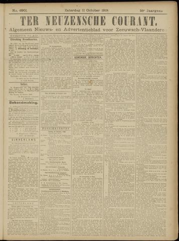 Ter Neuzensche Courant. Algemeen Nieuws- en Advertentieblad voor Zeeuwsch-Vlaanderen / Neuzensche Courant ... (idem) / (Algemeen) nieuws en advertentieblad voor Zeeuwsch-Vlaanderen 1919-10-11