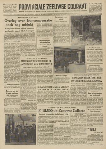 Provinciale Zeeuwse Courant 1953-09-21